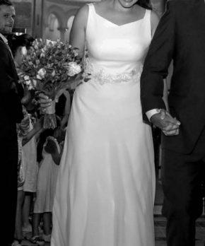 Vestido de novia en venta hecho por Camila Urbina