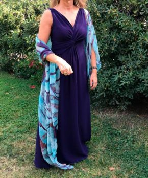 Vestido de seda traído de Nueva York