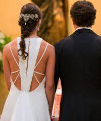 Vestido de novia Anne und Emma con original espalda