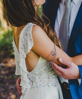 Vestido de novia Karyn Coo de seda natural