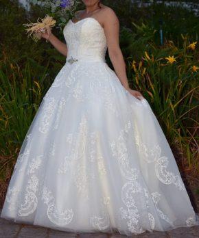 Vestido de novia corte princesa a la venta