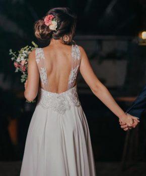 Vestido de novia blanca bonita en venta