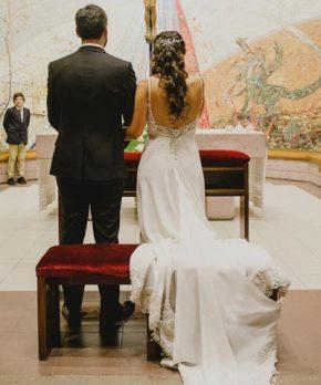 Vestido de novia María Velo de seda