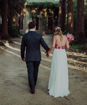 Vestido de novia con bordados de Ignacia Jullian