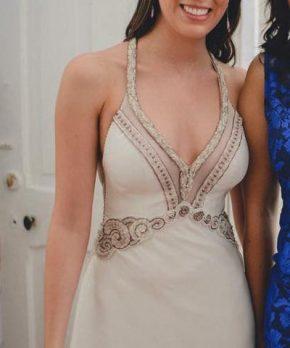Vestido de novia con pedrería y transparencias MLV