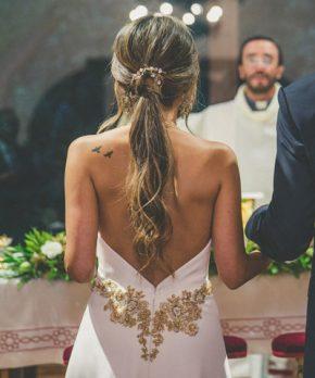 Vestido Francisca Larrain novias de crepe de seda