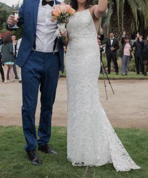 Vestido de novia de macramé Francisca Chicicoada