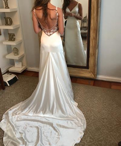 en venta vestido de novia confeccionado por francisca larraín en