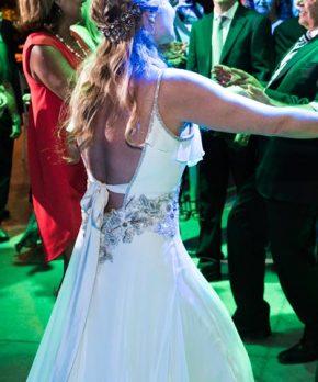 Vestido MLV de novia de gasa de seda