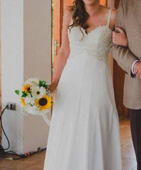 Vestido de novia en venta hecho por Macarena Palma