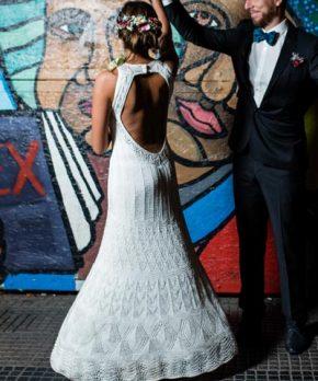 Vestido tejido a mano por Maria Ines Solimano