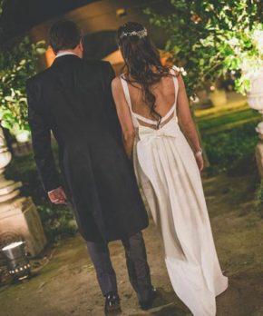 Vestido de novia de crepe de seda de Josefina Ulloa