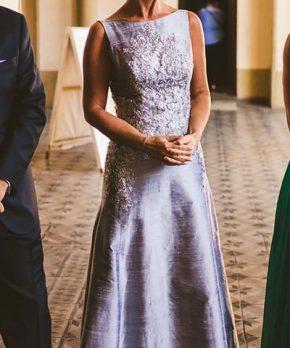 Vestido de madrina hecho por Pollo Covarrubias y Ricardo Lavin