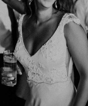 Vestido de novia confeccionado por Francisca Larraín