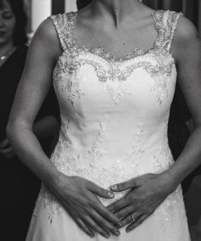 Vestido de encaje de María Subercaseaux novias