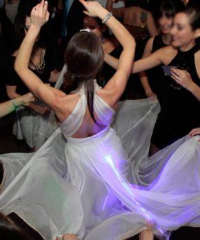 Vestido de novia de gasa marca Angelic Diabolic