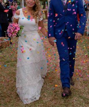 Vestido de novia de encaje para novia