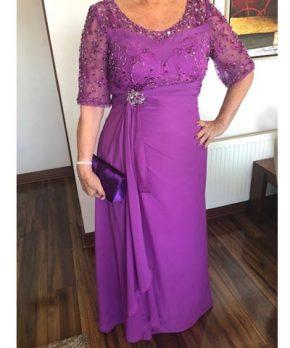 Vestido de madrina color morado en venta