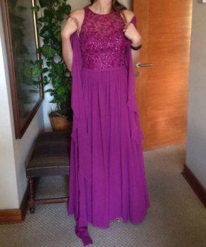 Vestido formal de gasa en venta