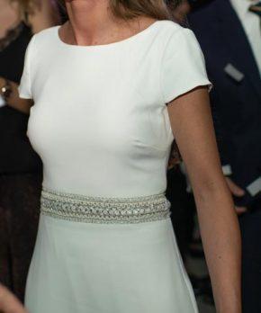 Vestido de novia de crepe marca Luz Edwards