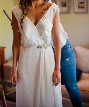 Vestido AE Novias de seda en venta