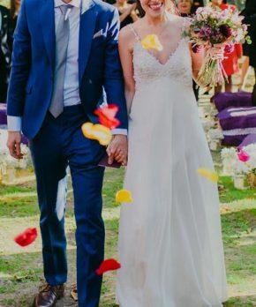 Vestido de novia hecho por Francisca Vallejos