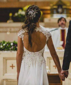 Vestido de novia hecho por Karyn Coo