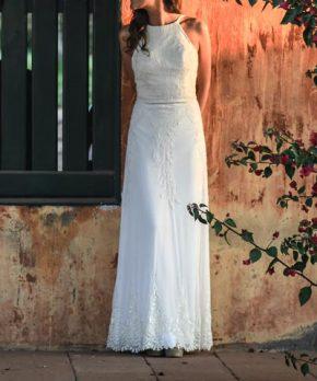 Vestido de novia hecho por Paula Matthei