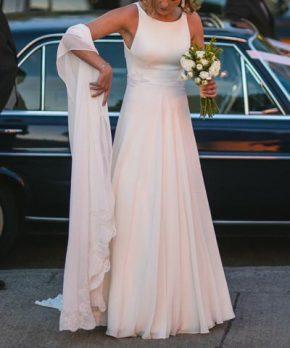 Vestido de novia hecho por Camila Urbina