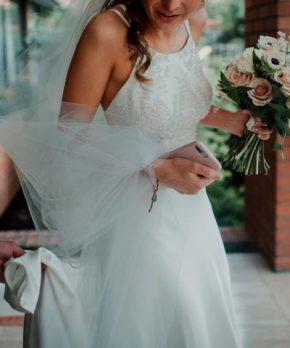 Vestido de novia hecho por Carmen Zuñiga