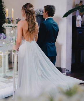 Vestido de novia hecho por Alla Andersen