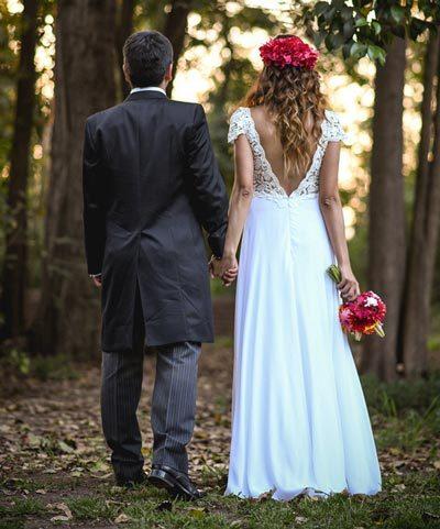 Vestido de novia hecho por Francisca Chicioada