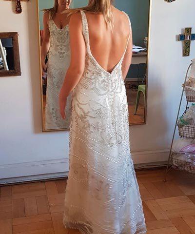 Vestido Usado Blanco Crudo