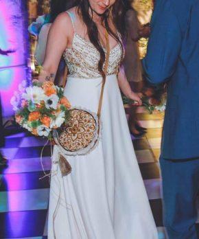 Vestido usado Blanco Crudo en venta