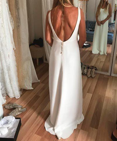 Vestido usado hecho por Sofia Larrain