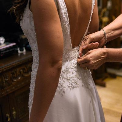 Vestido Blanc Novias usado hecho de gasa y pedrería